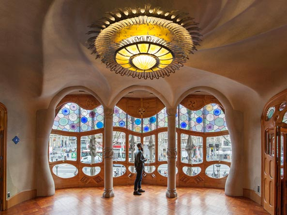 What to see in barcelona casa batll for Interieur art nouveau