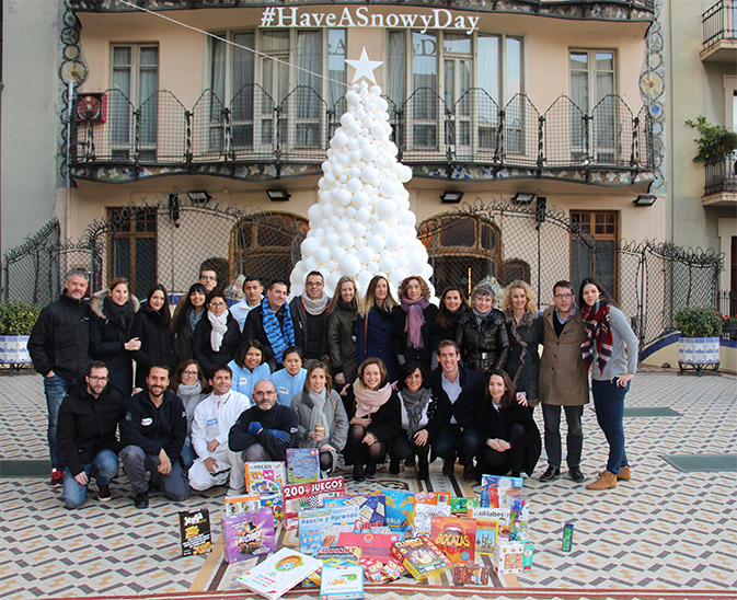 "Read more about ""It's snowing in Casa Batlló"" raised 15.000€ for Aldees Infantils SOS Catalunya Foundation"